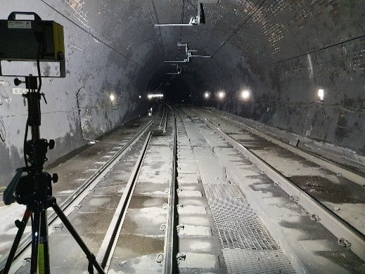 Glasgow Charing Cross Tunnel met de Gladius 2K